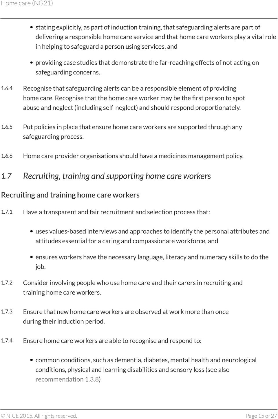 4 Recognise that safeguarding alerts can be a responsible element of providing home care.