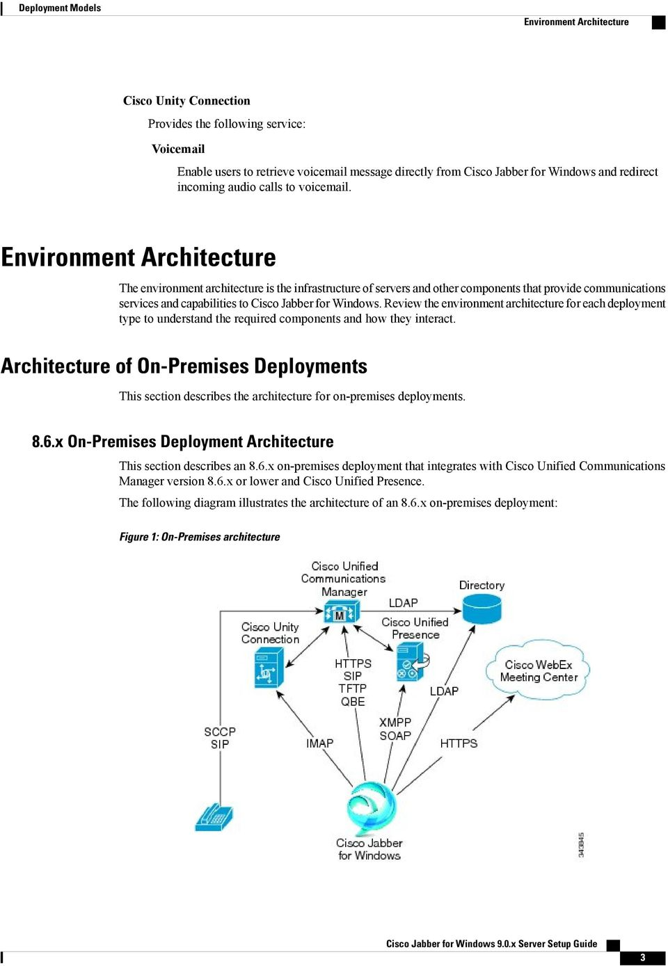 Environment Architecture The environment architecture is the infrastructure of servers and other components that provide communications services and capabilities to Cisco Jabber for Windows.