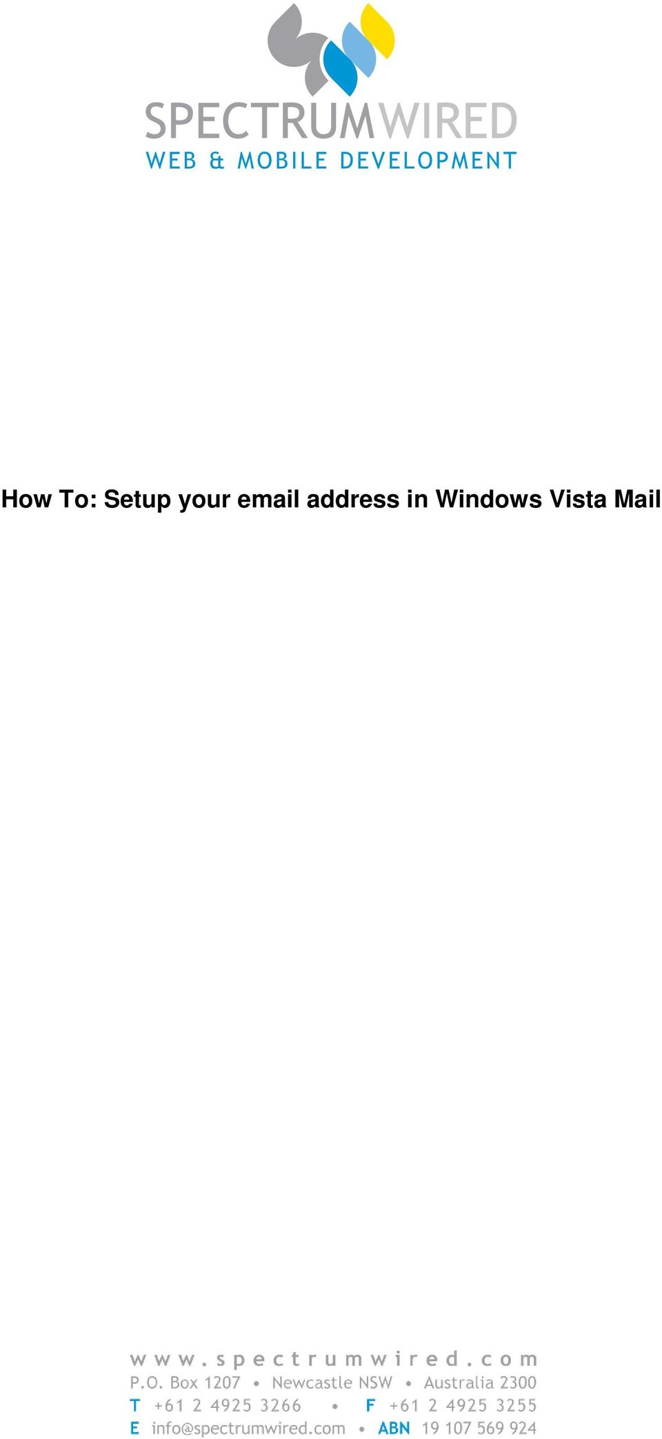 Setup your email
