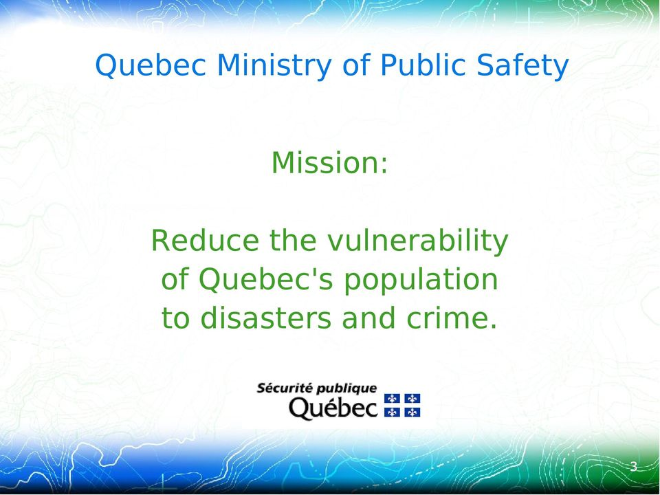 vulnerability of Quebec's