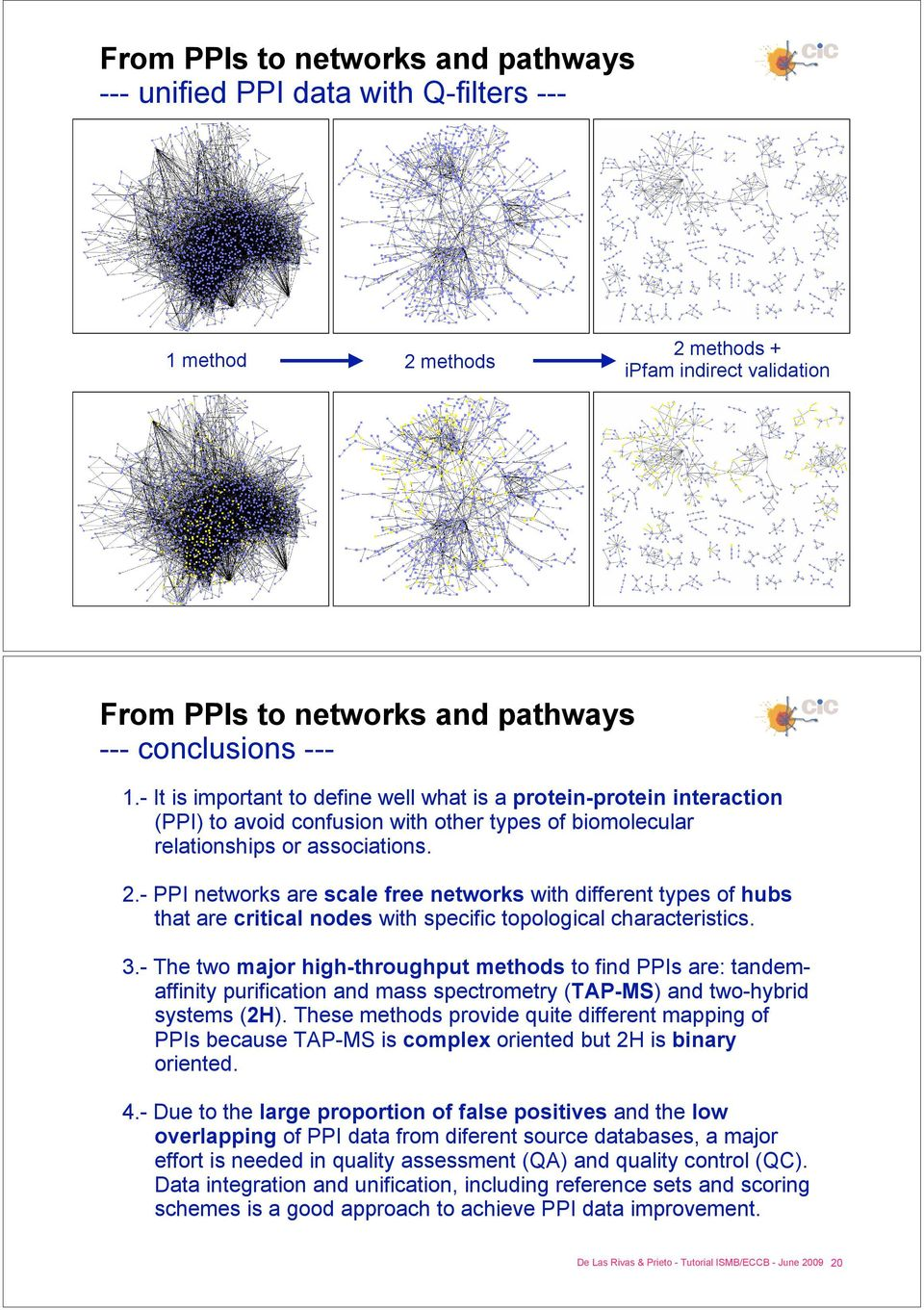 - PPI networks are scale free networks with different types of hubs that are critical nodes with specific topological characteristics. 3.