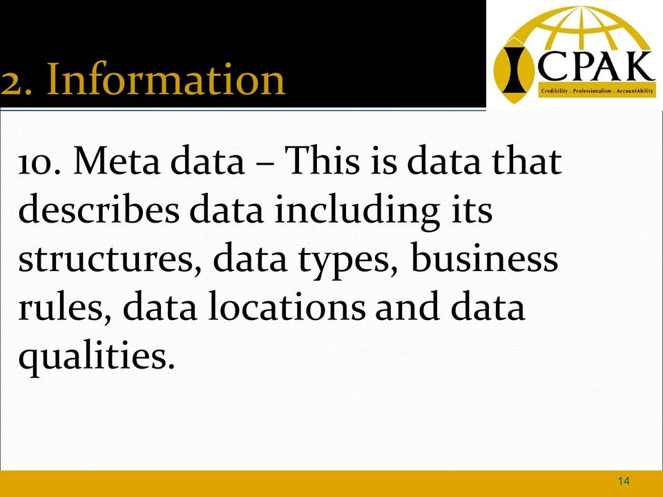 data including its structures, data