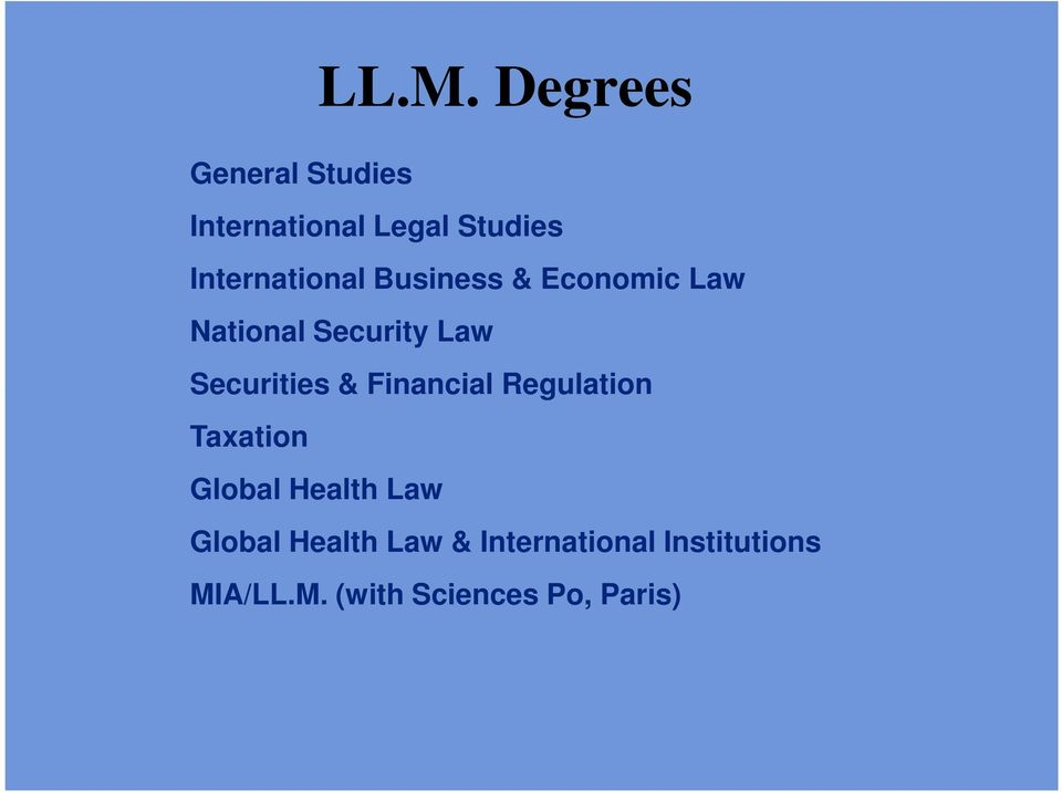 Economic Law National Security Law Securities & Financial