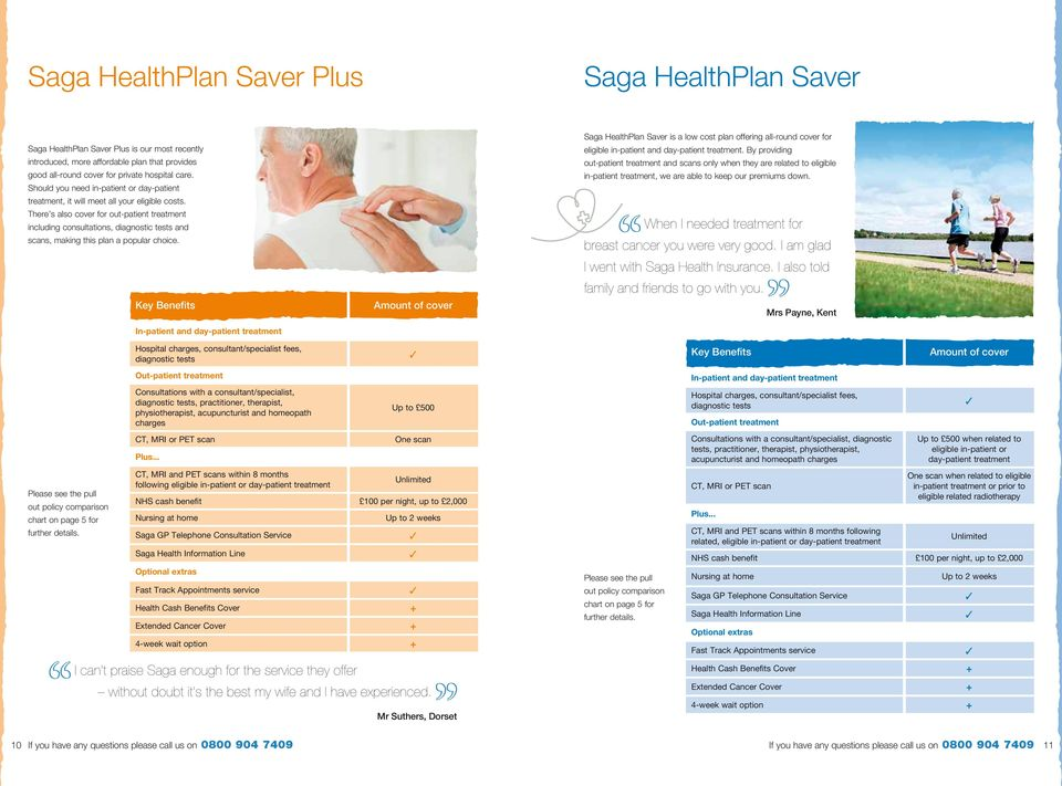 There s also cover for out-patient treatment including consultations, and scans, making this plan a popular choice.