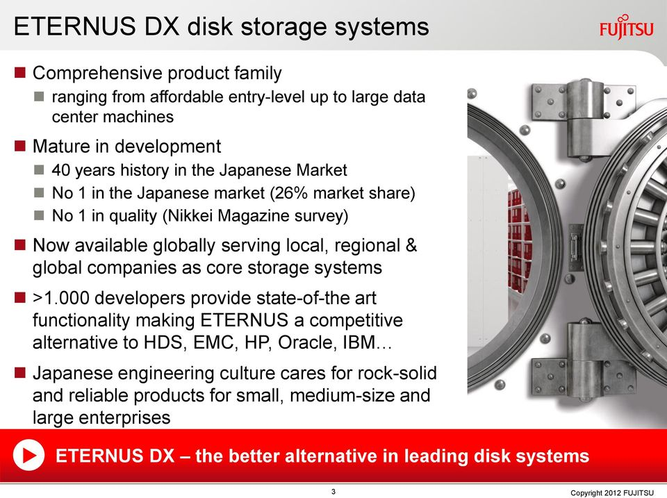 companies as core storage systems >1.