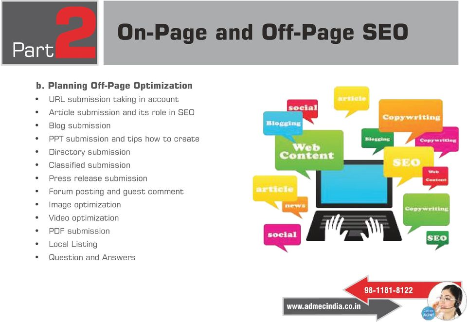 role in SEO Blog submission PPT submission and tips how to create Directory submission