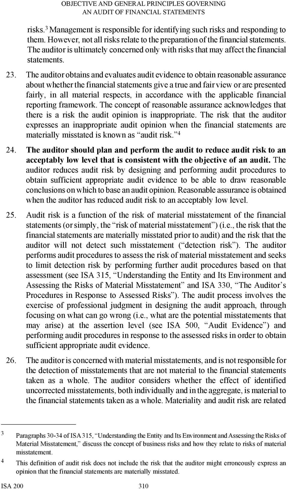 The auditor obtains and evaluates audit evidence to obtain reasonable assurance about whether the financial statements give a true and fair view or are presented fairly, in all material respects, in