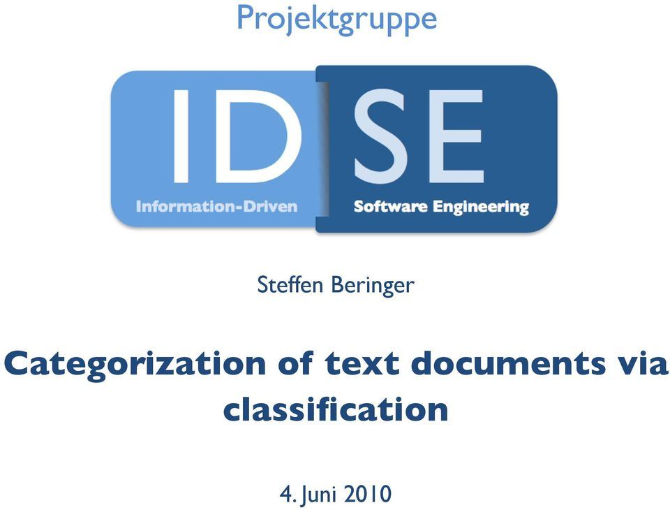 of text documents via