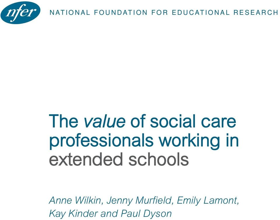 professionals working in extended schools Anne