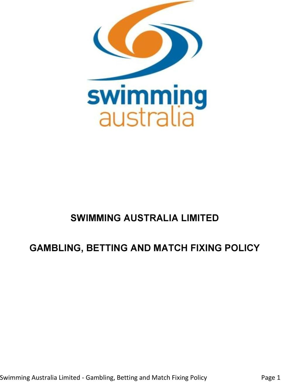 Swimming Australia Limited -