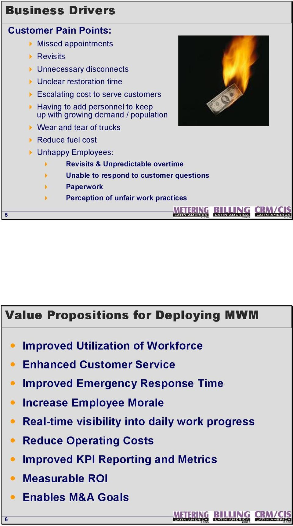 customer questions 4 Paperwork 4 Perception of unfair work practices Value Propositions for Deploying MWM Improved Utilization of Workforce Enhanced Customer Service Improved