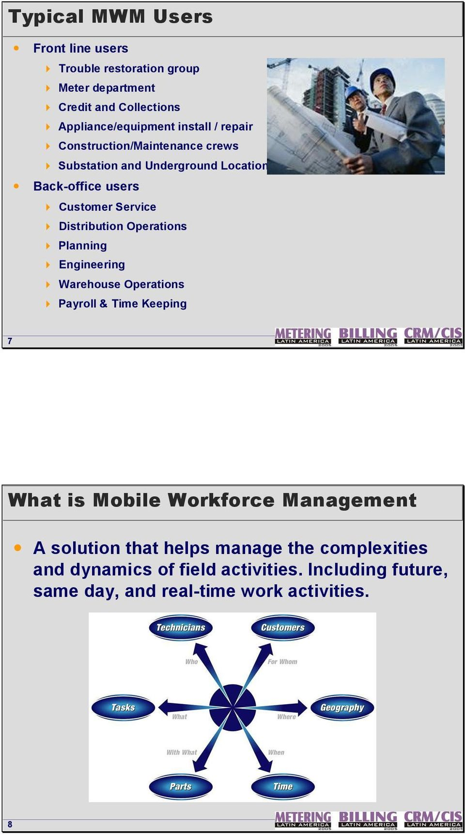 Distribution Operations 4 Planning 4 Engineering 4 Warehouse Operations 4 Payroll & Time Keeping 7 What is Mobile Workforce