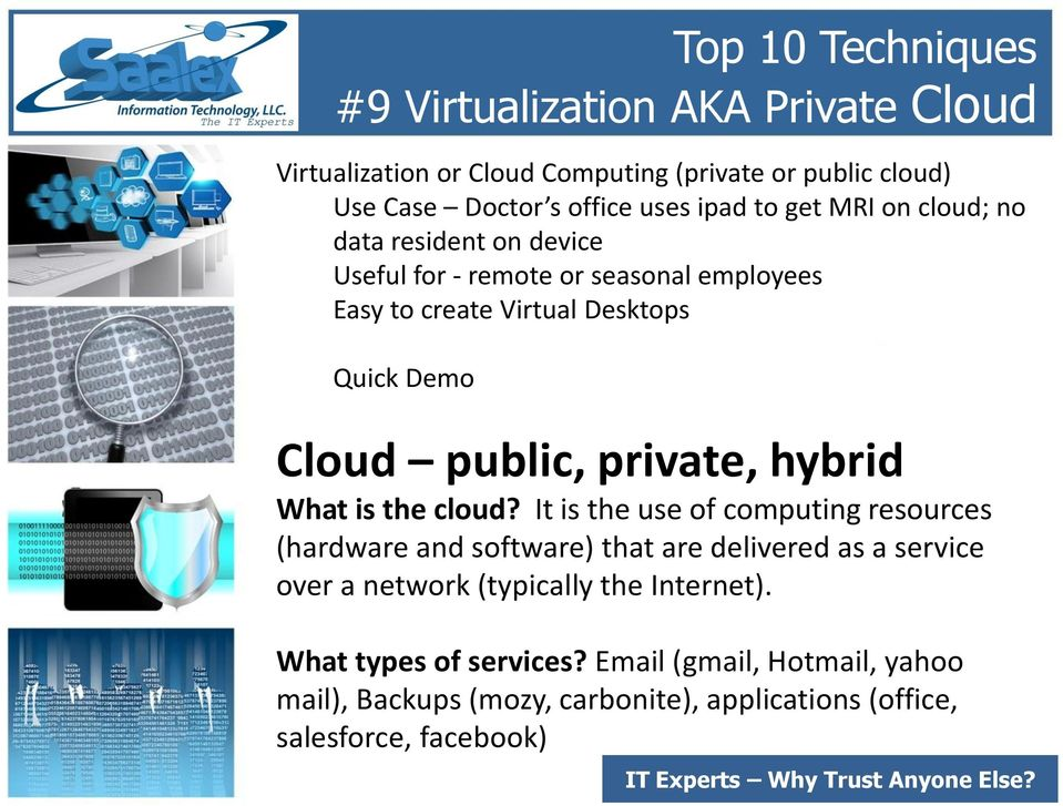 private, hybrid What is the cloud?
