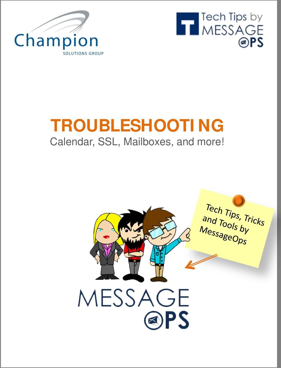 TROUBLESHOOTING  Calendar, SSL, Mailboxes, and more! - PDF