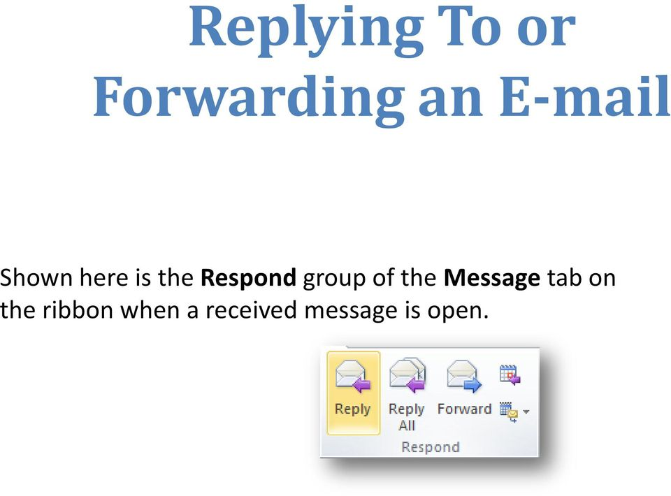 group of the Message tab on the