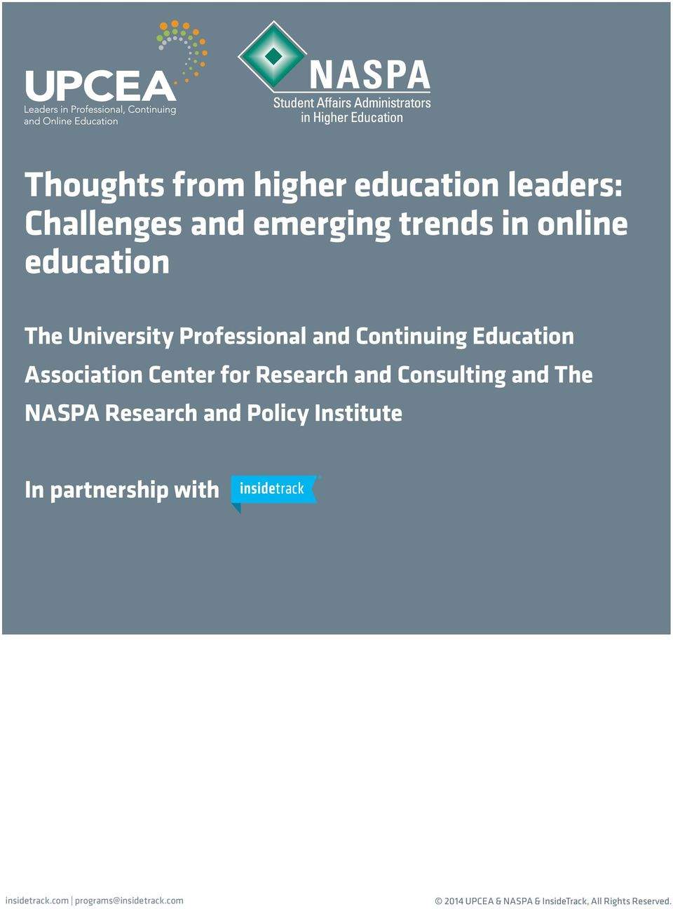 Consulting and The NASPA Research and Policy Institute In