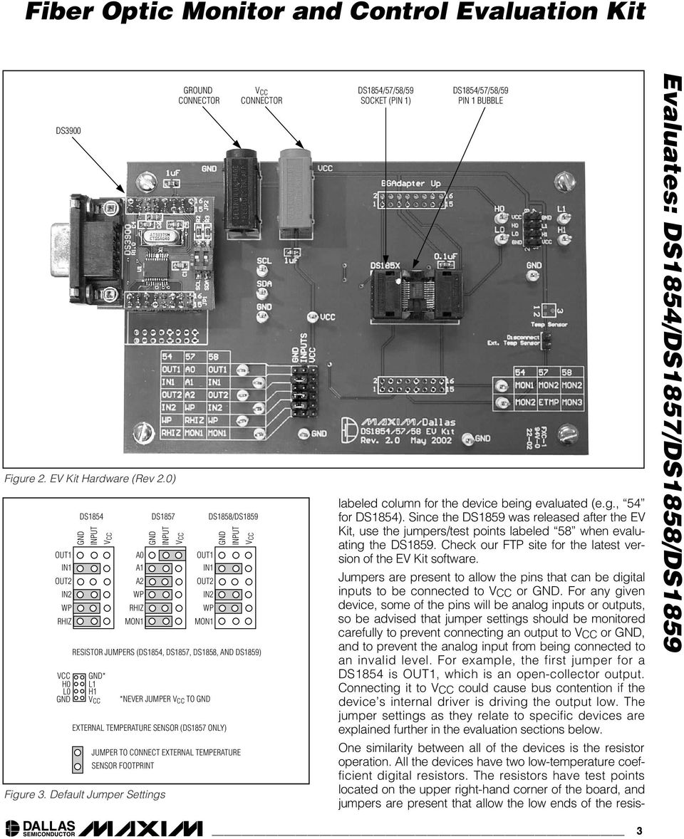 JUMPER TO EXTERNAL TEMPERATURE SENSOR (DS1857 ONLY) DS1858/DS1859 INPUT VCC JUMPER TO CONNECT EXTERNAL TEMPERATURE SENSOR FOOTPRINT Figure 3.
