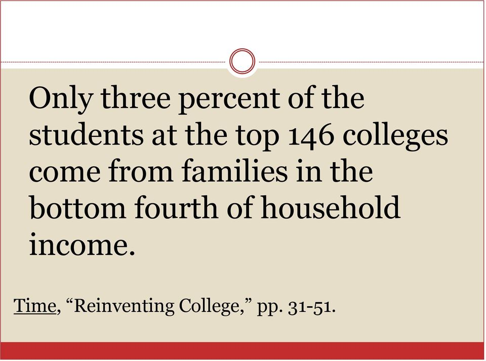 colleges come from families