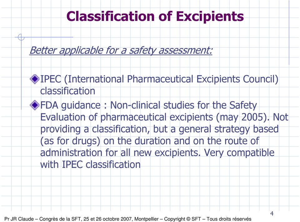 pharmaceutical excipients (may 2005).