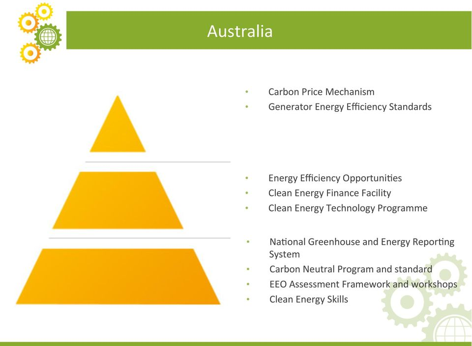Technology Programme Na+onal Greenhouse and Energy Repor+ng System Carbon
