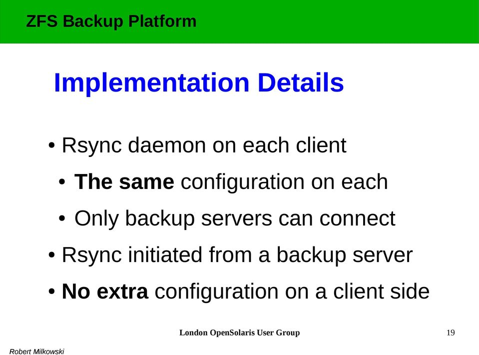 connect Rsync initiated from a backup server No extra