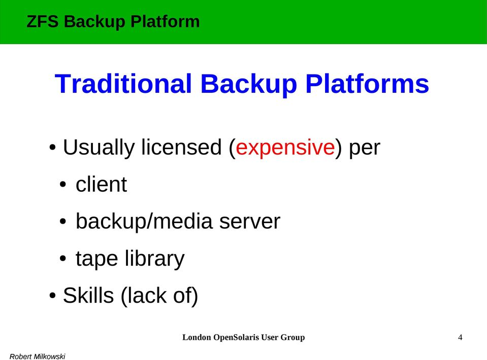 backup/media server tape library