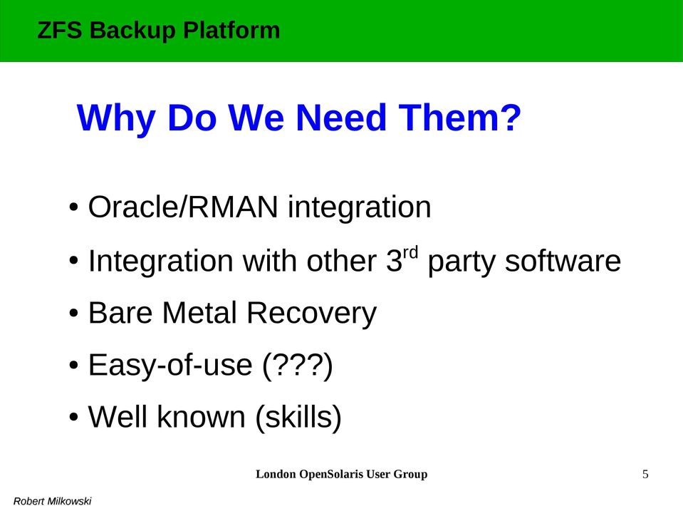 other 3 rd party software Bare Metal