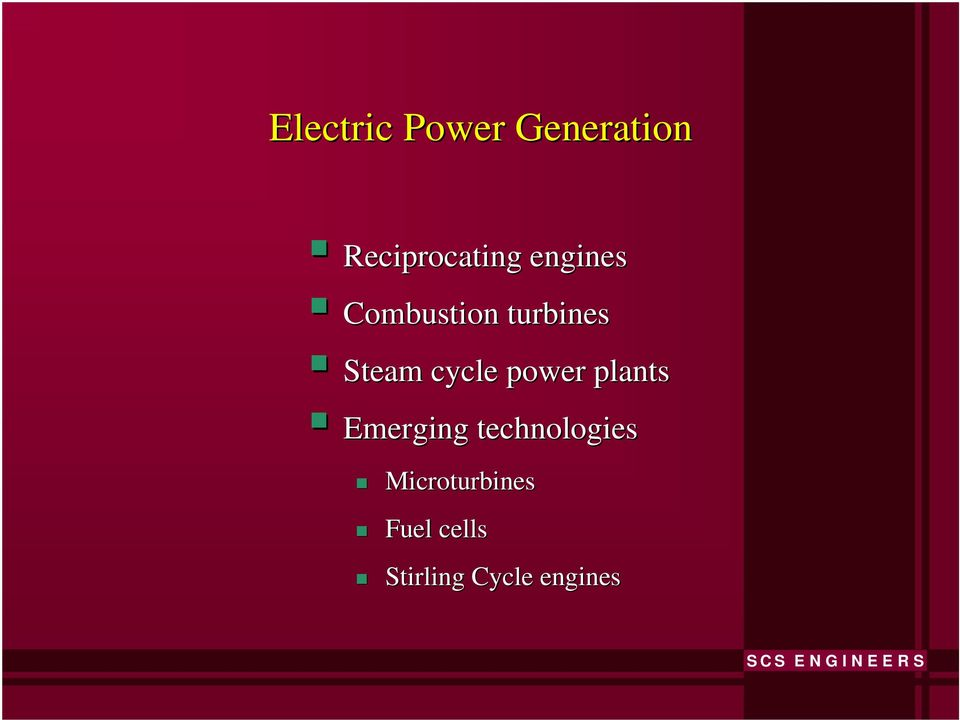 power plants Emerging technologies