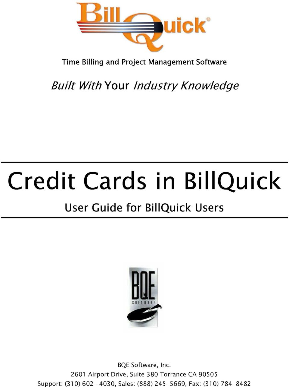 BillQuick Users BQE Software, Inc.