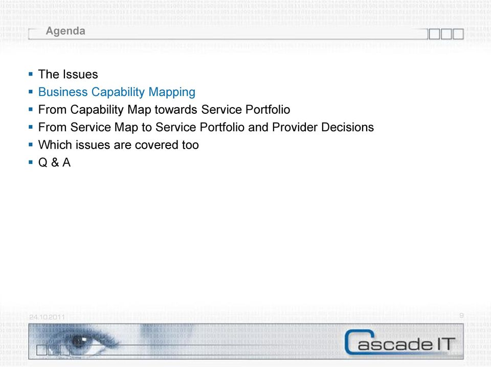 From Service Map to Service Portfolio and