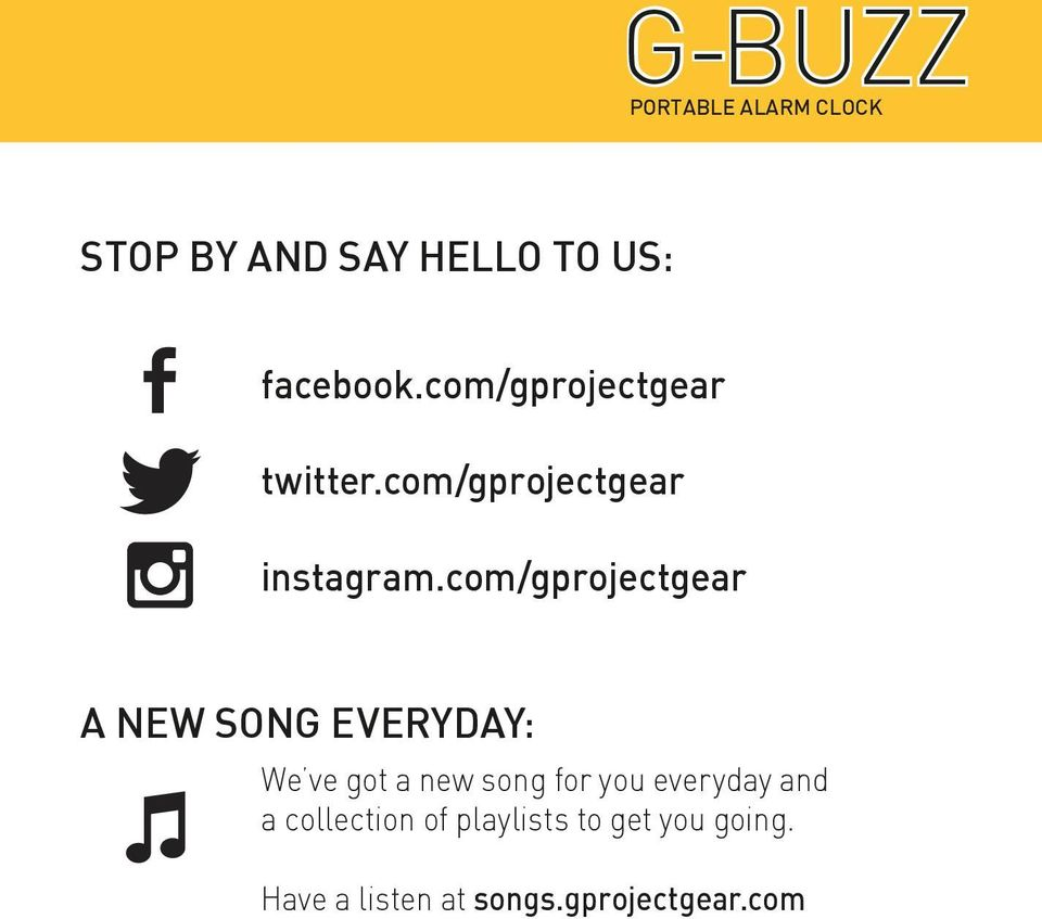 com/gprojectgear A NEW SONG EVERYDAY: We ve got a new song for you