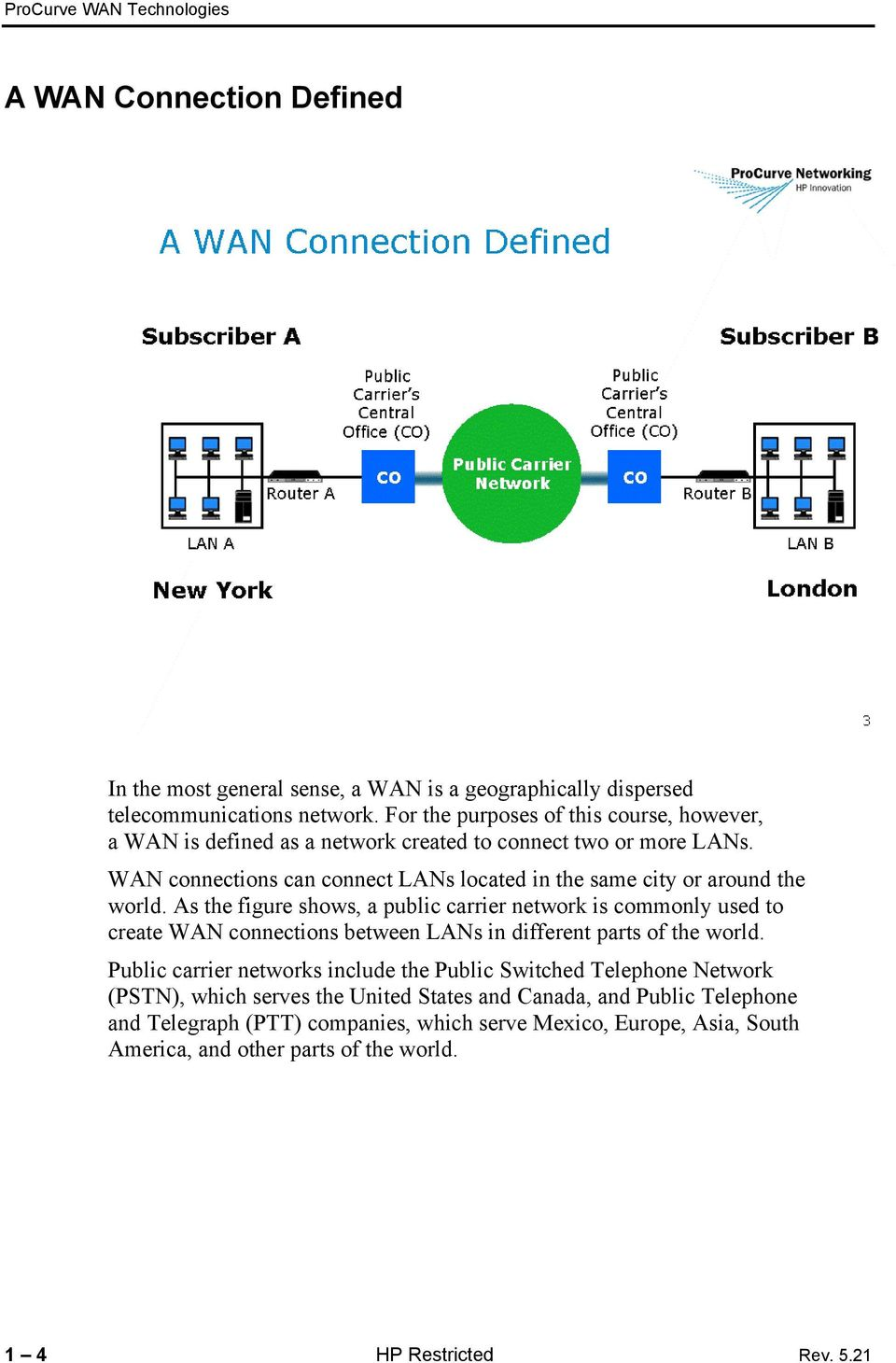 WAN connections can connect LANs located in the same city or around the world.