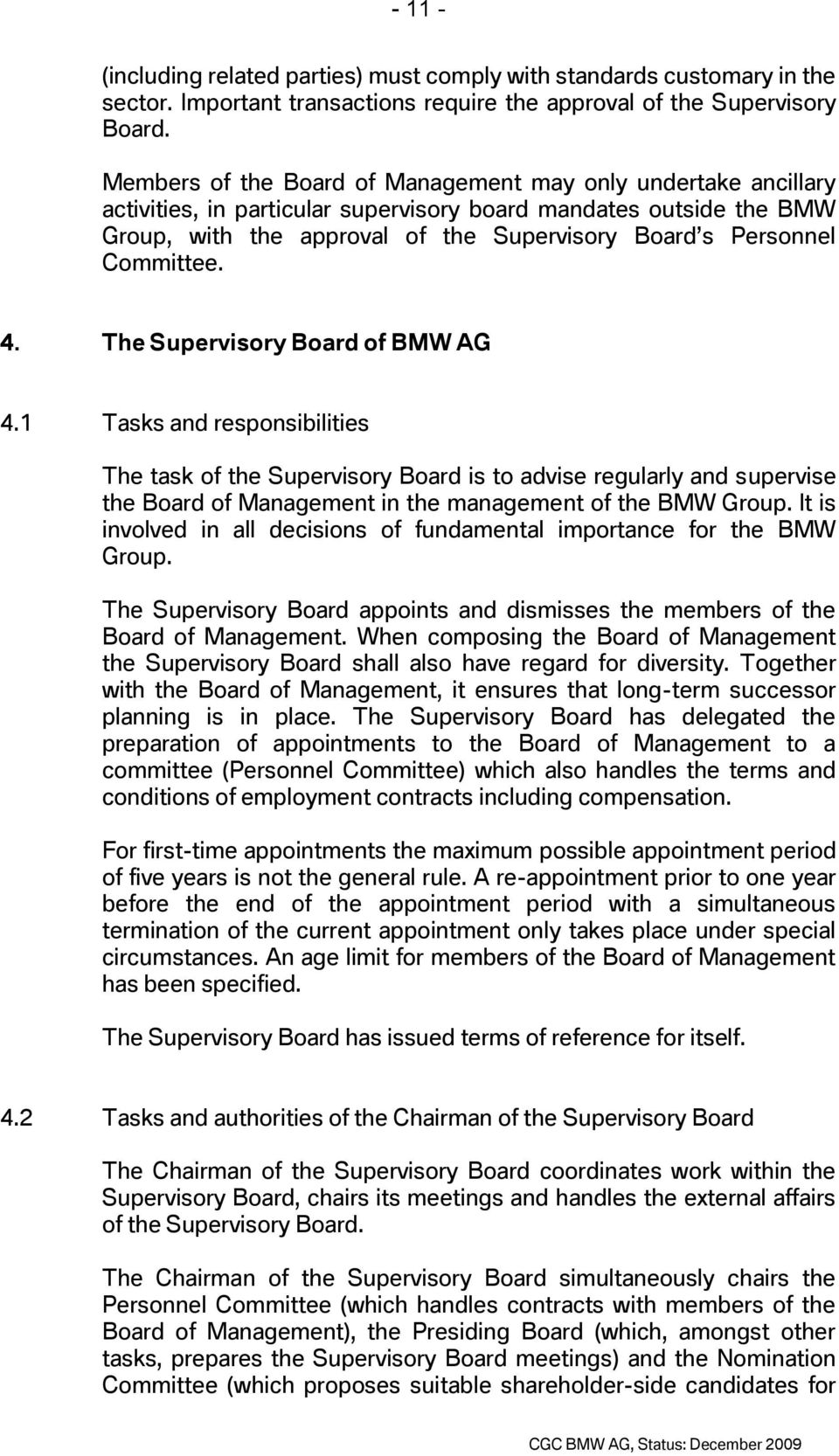 Committee. 4. The Supervisory Board of BMW AG 4.