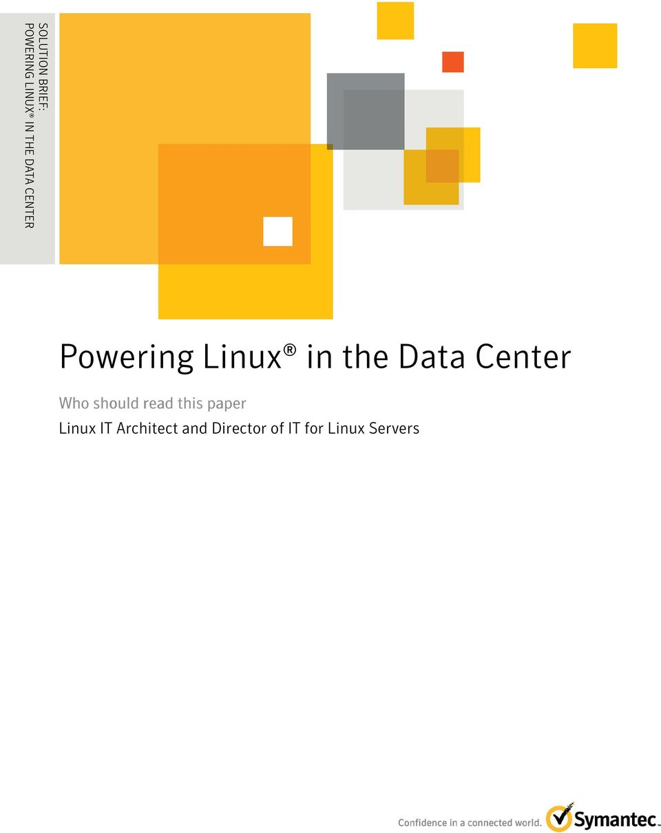 Linux in the Data Center Who should read this paper