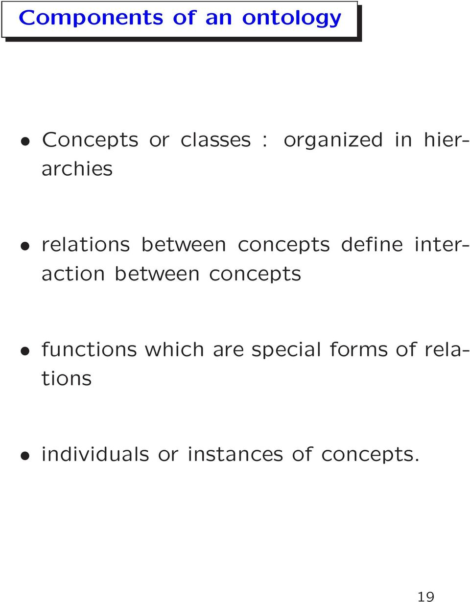 define interaction between concepts functions which are