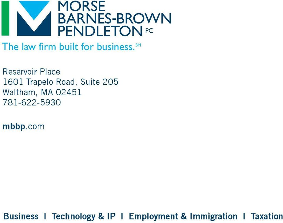 com MORSE BARNES -BROWN PENDLETON PC The law firm