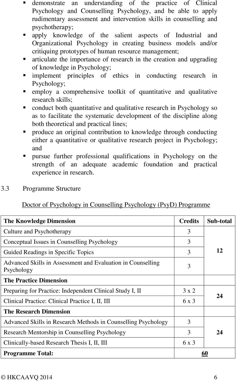 research in the creation and upgrading of knowledge in Psychology; implement principles of ethics in conducting research in Psychology; employ a comprehensive toolkit of quantitative and qualitative