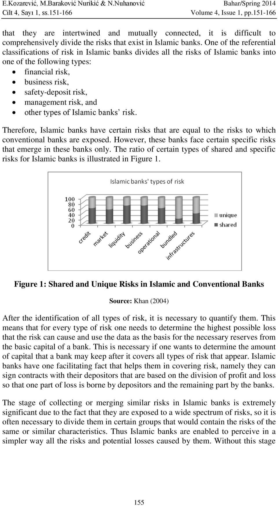 One of the referential classifications of risk in Islamic banks divides all the risks of Islamic banks into one of the following types: financial risk, business risk, safety-deposit risk, management