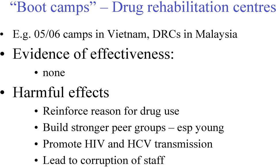 05/06 camps in Vietnam, DRCs in Malaysia Evidence of