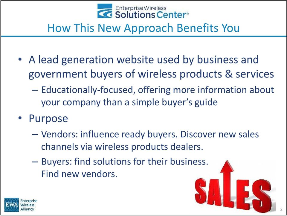 your company than a simple buyer s guide Purpose Vendors: influence ready buyers.