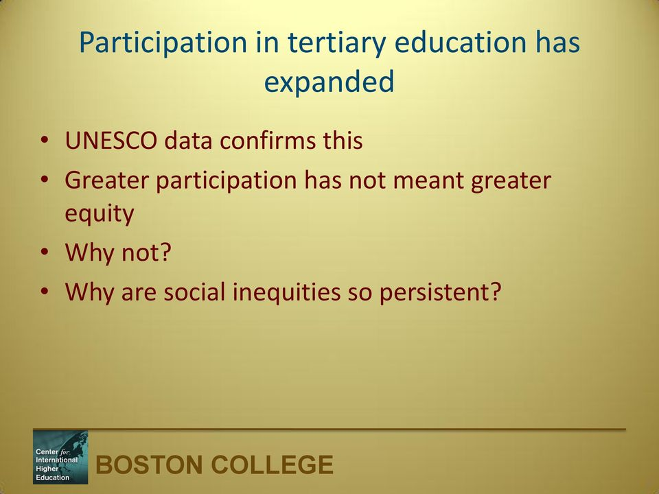 participation has not meant greater equity