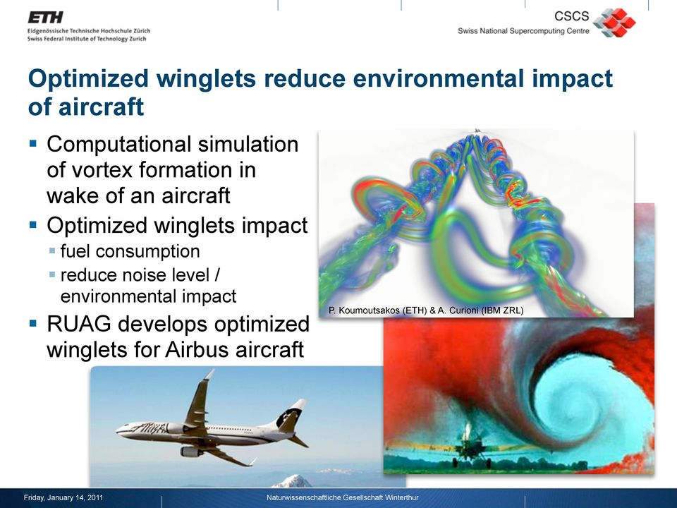 impact fuel consumption reduce noise level / environmental impact RUAG