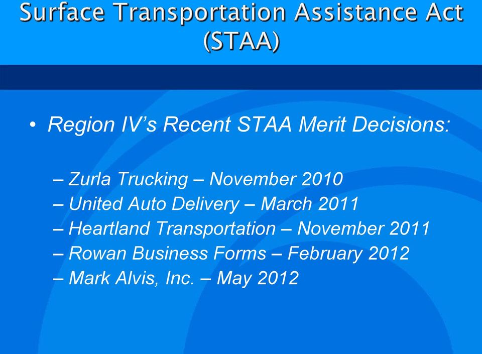 2011 Heartland Transportation November 2011 Rowan