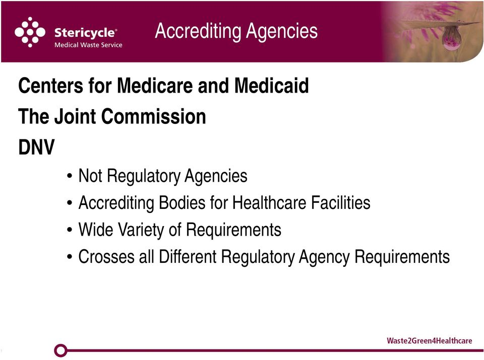 Accrediting Bodies for Healthcare Facilities Wide Variety