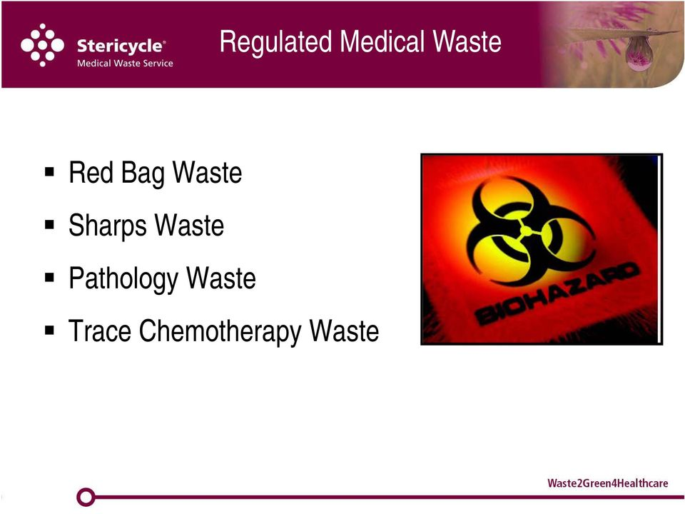 Sharps Waste Pathology