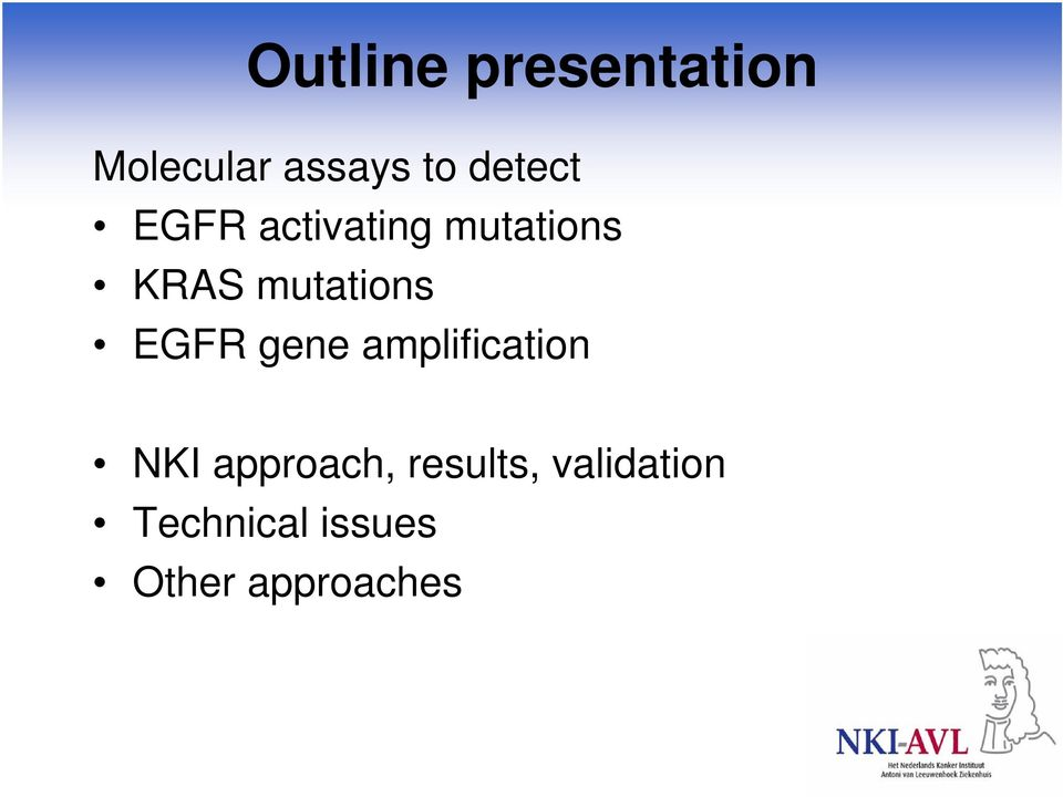 mutations EGFR gene amplification NKI