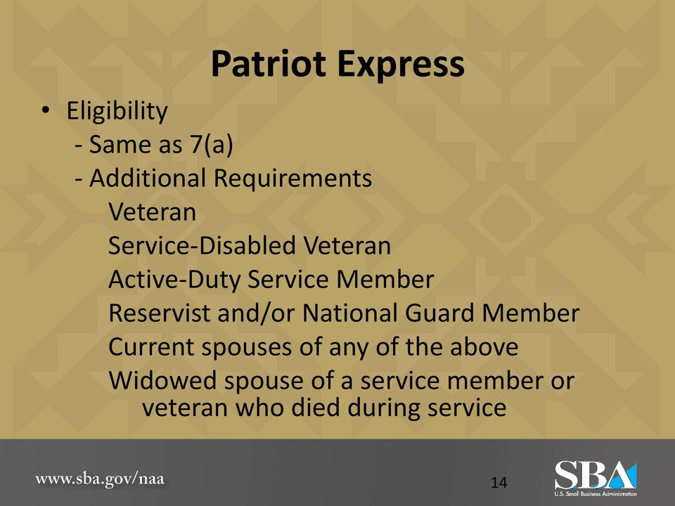Reservist and/or National Guard Member Current spouses of any of the