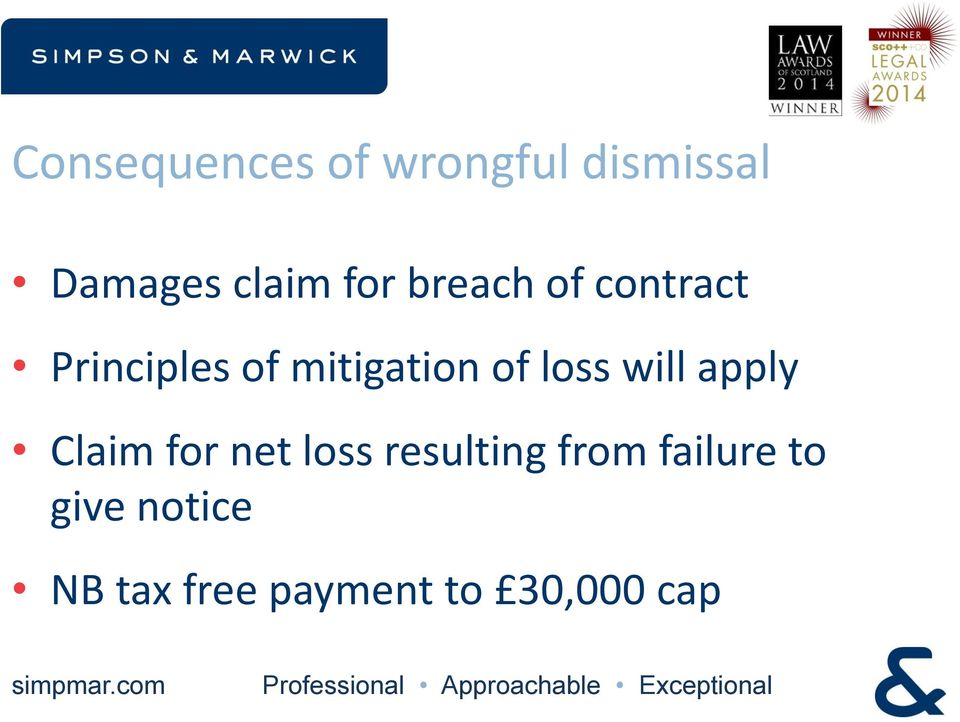 loss will apply Claim for net loss resulting from