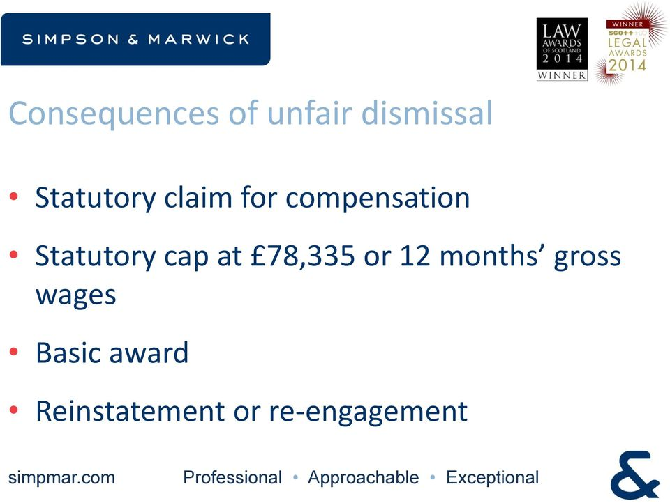 Statutory cap at 78,335 or 12 months