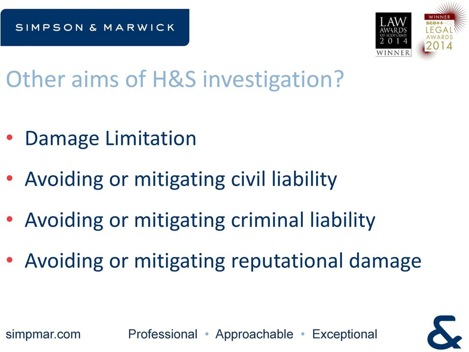 civil liability Avoiding or mitigating